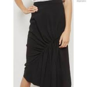 Topshop Asymmetric Ruched Skirt Size 8